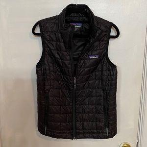 Black Patagonia Vest, Woman's size Medium